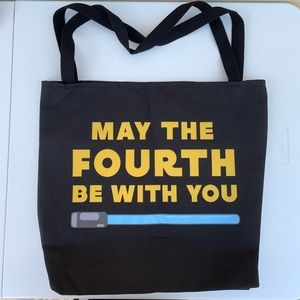 Handbags - STAR WARS MAY THE FOURTH 4TH FORCE JEDI TOTE BAG!!